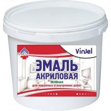 Enamel acrylic matte VinJel, green, 1 kg.