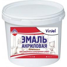 Enamel acrylic matte VinJel, brown, 1 kg.