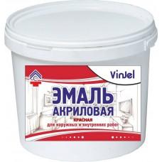Enamel acrylic matte VinJel, red, 1 kg.
