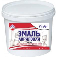 Enamel acrylic matte VinJel, black, 1 kg.