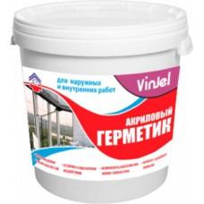 Герметик акриловый для наружных и внутренних работ VinJel, 15 кг.