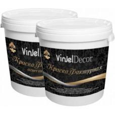 Acrylic textured white paint VinJel, 15 kg.